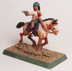 Mounted Indian with Pistol